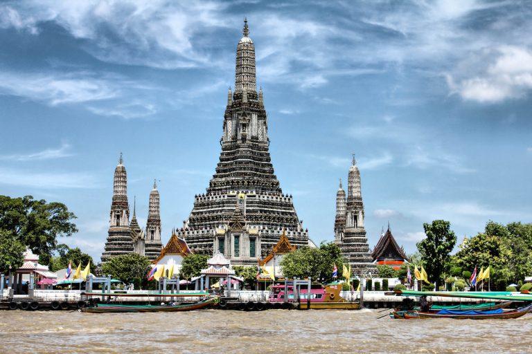 wat arun Bangkok mercado flotante