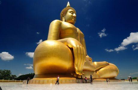 buda gigante Ang Thong templos