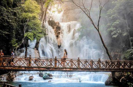 catarata kuangsi tour guia en tailandia