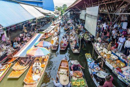 mercado flotante Damoen Saduak Bangkok